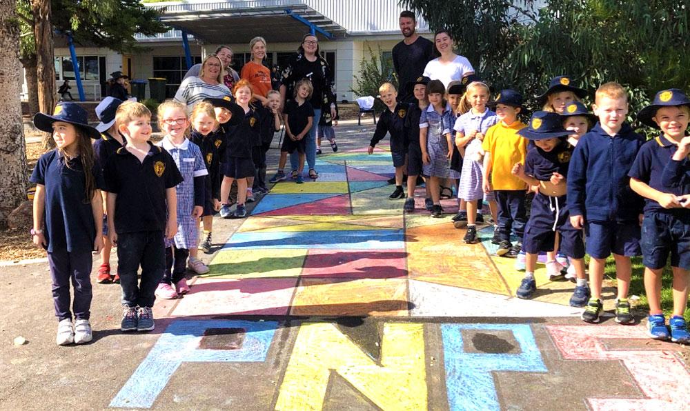 Rainbow Road Lifting School Spirits