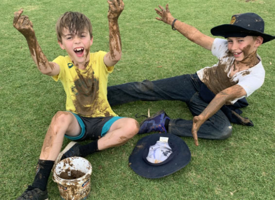 Miss Alana's Bananas looking back on Term 3's Big Day In – Fire Pit and Mud Play!
